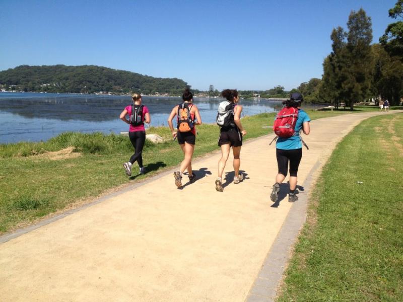 Girls running brisbane waters